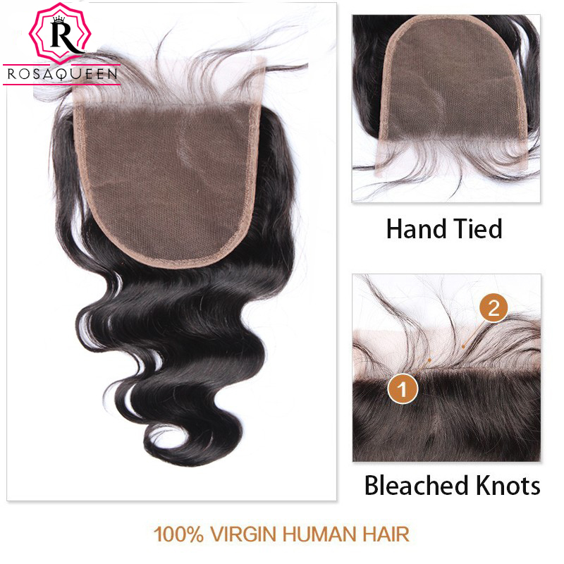 Body-Wave-5x5-Lace-Closure-Bleached-Knots-Human-Hair-Closure-Brazilian-Hair-Pre-Plucked-With-Baby