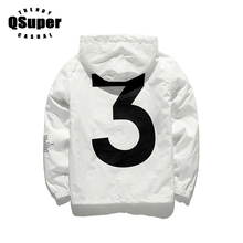 QSuper Y-3 Tour Season 3 Windbreaker Jacket Men Fashion Logo Letter Printed Hip Hop Jacket Men Thin Style Casual Jacket(China)