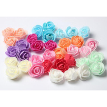 50Pcs DIY Simulation Mini PE Foam Material Rose Flower Head Garland Wedding Party Decoration Artificial Craft Flower Gift 6ZA196(China)