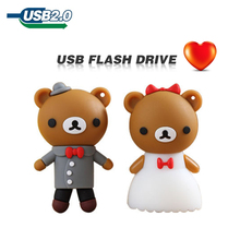 2014 cute Rilakkuma wedding marry U Disk 4GB 8GB 16GB 32GB 64GB usb flash drive memory stick pen drive pendrive flash card