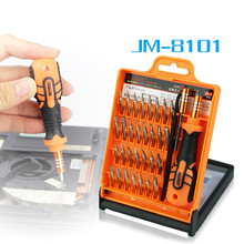 JAKEMY JM-8101 Precision 33 in 1 Screwdriver Set Disassemble Laptop Cell Phone Tablet Electronics Opening Repair Tools Kit