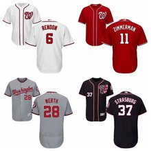 MLB Men's Washington Nationals Anthony Rendon Ryan Zimmerman Jayson Werth Stephen Strasburg jerseys(China)