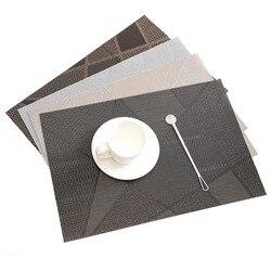 ONEUP 4 шт./партия, европейский стиль, водонепроницаемый декоративный коврик, термостойкая тарелка, посуда, подставка для посуды, коврик для ст...