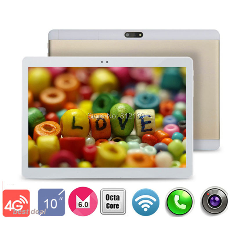 2017 New Metal Case 10 inch 4G FDD LTE Tablet PC Octa Core 1920*1200 4GB RAM 32GB ROM Dual SIM Cards Android 4.0 tablets 10.1(China)
