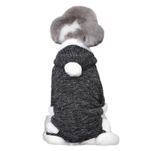 Black White Thermal Polyester Fleece Dog Clothes Winter Four Legs Dog Clothing Hoodie Pet Clothing S M L XL 1 Piece Dropshipping