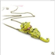 Yellow Tiger Pendants Necklaces Jewelry For  Charms Wedding s XX608
