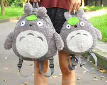 Kawaii 2Sizes For Choice - Bigger For Lady Adult TOTORO Plush Backpack , Smaller For Kid Girl's Plush Backpack(China)