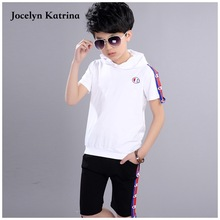 Boys Casual Clothing Sets Children's 2017 New 2pce Suit Sets T-shirts+Shorts Baby Boys Summer Cotton Costume Kid Apparels