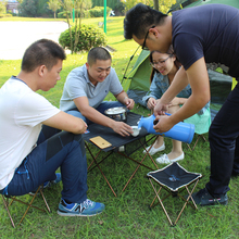 Lightweight Aluminium Alloy BBQ Table Travelling Camping Picnic Barbecue Folding Table Outdoor BBQ party Folding Moveable Table(China)