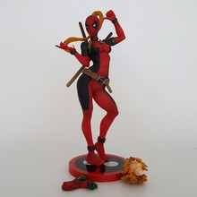 Deadpool Action Figures Lady Deadpool Merc With A Mouth Anime New Mutants PVC Figure WomenDeadpool Model Toy Best Gift