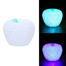Apple Crystal LED Night Light For Christmas Wedding Decoration 7 Colors Changing Desk Lamp Bedroom Light Kids Toy
