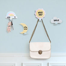 Kids Baby Nordic Style Hanger Hook Wall Resin Cloud Rainbow Clothes Hook Room On Wall Decorative Props for Kids Room Gift Giving