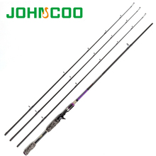 HOT!!!JOHNCOO High Carbon 2.1M/2.4M Casting Fishing Rod Combo 3 Tips M/MH/ML Power Pole Feeder Goods for Fishing Tackle(China)