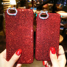 Buy Fashion Glitter Bling Case iphone 7 Case iphone7 6 6S Plus Phone Cases Red Shining Sequins Diamond Hard Back Cover Capa for $2.34 in AliExpress store