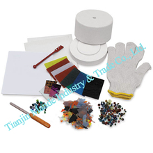 promotion 2017 fusing glass small microwave kiln kits(10pcs set) fusing art work(China)