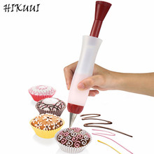 Silicone Fondant Cake Decorating Pen Nozzle Pastry Set Icing Piping Pen Chocolate Cake Decorating Tools(China)