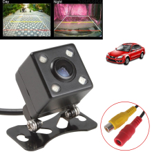 Universal Waterproof Rear View Camera Wide Angle Car Back Reverse Camera CCD 4 LED Light Night Vision Parking Assistance Camera(China)