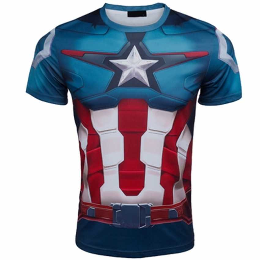 877f3cfff4a78 Nuevo flash hombre Hulk Batman retro Spiderman veneno Ironman Superman  Capitán América xmen Marvel camiseta Avengers