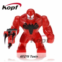 Super Heroes 7CM Venom Carnage The Son of Toxin Killer Croc Colossus Abomination Hulk Building Blocks Children Gift Toys KF276