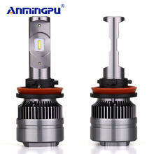 ANMINGPU 16000lm/pair Spot Led Headlight Blubs H7 H4 LED Bulbs Lamp H1 H11 9005 9006 H8 880/881 6000K Auto Light Car Light Lamp(China)
