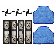 4 Hepa Filter Replace Part 945-0215 & 3 Side Brush & 2 Micro-fiber Mopping Cloth for Neato BotVac D Series D70, 70E, 75, 80, 85
