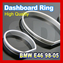 DASH for BMW E46 98 05 Silver Cluster Rings Silver Gauge Rings Silver DASH board Rings(Taiwan)