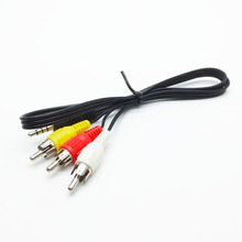 3.5mm Male to 3 RCA Audio Video AV Cable Cord Adapter Converter Connector Component Cable Lead For HDTV
