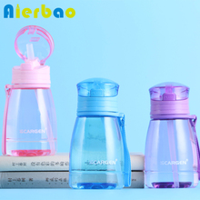 Portable Mini Sports Water Bottle 350ml Children Bottle With Flip Top Lid Premium PC Healthy Drinking Bottles For Water(China)
