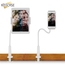 KISSCASE Long Arm Tablet Holder For iPad 2 3 4 Pop Stand For iPhone X 6 6s 7 8 Plus Universal Lazy Bracket Clip Holder For Redmi(China)
