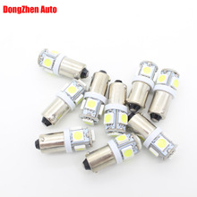 10X 24V Auto T11 BA9S 5 LED Car T4W H6W Reading Light Map Indicator License Plate Light Dome Festoon External Light Xenon Lamp