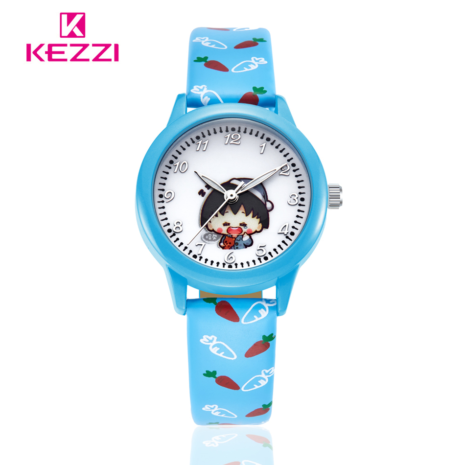 New Arrivals Kezzi Cartoon Watch Children Strap  Pattern Casual Quartz Wristwatch Students Color Clock Ladies Watches 2016  <br><br>Aliexpress