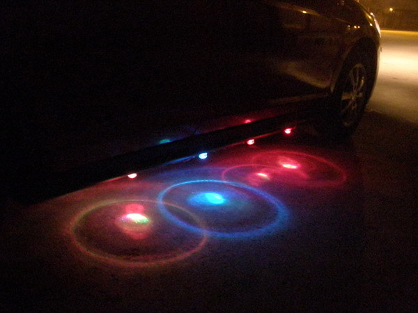 Car Styling 4 in1 Colorful Chassis LED Lights Waterproof Door Decoration Light Car Atmosphere Lamp LED Undercar Lamp<br><br>Aliexpress