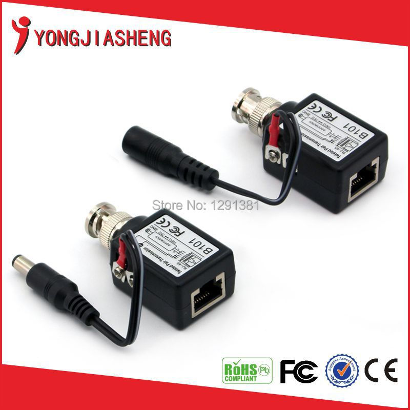 Passive video balun bnc to rj45 power balun<br><br>Aliexpress