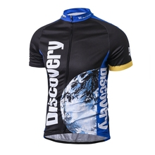 WEIMOSTAR Blue Discovery Cycling Jersey Riding Bike Clothing Tops ciclismo Sport Breathable Bicycle Shirt Short Sleeve S-4XL(China)