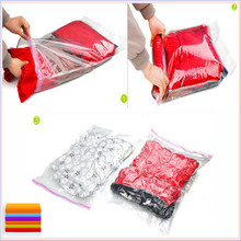 Free shipping 10pcs/lot Vacuum Compression Bags for travelling/hand rolling vacuum bag 35*50cm Storage Bags(China)