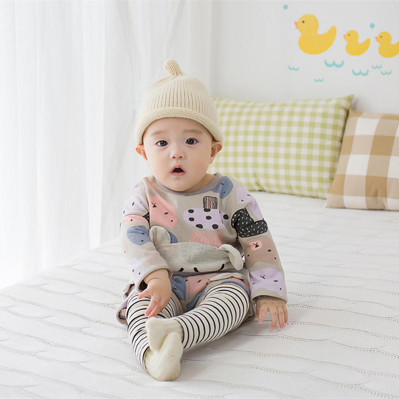 2016 spring autumn New Baby Boys girls cute cartoon Clothing Sets 2pcs Kids Long sleeve T shirt +Pants Children Clothes<br><br>Aliexpress