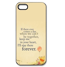 Winnie Pooh lovely Quotes cell phone cover case for Iphone 4S 5 5S 5C 6 Plus for Samsung galaxy S3/4/5/6/7 Note Ipod Touch 4 5 6