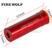 FIRE WOLF Laser Bore Sighter 20 GAUGE 20GA Gauge Cartridge Red Laser Sight Boresighter For Hunting(China)