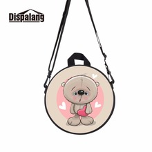 Dispalang 2017 hot cartoon kids little round bag cute girl messenger bags kindergarden travel lightweight bags mini back packs(China)