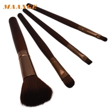 100% brand Top Quality Cosmetic Makeup Brush Wooden Handle + Nylon Hair  Free Shipping Jan10