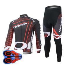 Ropa Ciclismo 2018 ORBEA Pro Cycling Jersey Men Pro Team Long Sleeve Set MTB Bike Clothing Breathable Sportswear pants 9D(China)