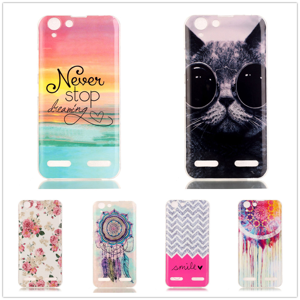 Lenovo K5 Fundas Case Cartoon Pattern TPU Phone Case Lenovo K5 /K5 Plus Silicone Soft Plastic Cover Back Skin Phone Bag