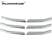 runmade For 2008-2010 Honda Accord 4-Door Sedan ABS Triple Chrome Center Bumper Grill Cover Car Decorating Sticker