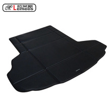 leather PU wateproof non slip car trunk mats pad warehouse in high class PU leather for JaguarXF XJ XK(China)