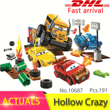 bela 10687 191Pcs Movie Series Thunder Hollow Crazy 8 Race Model Building Blocks Bricks Educational Toys For Children Gift 10744(China)