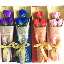 FLYDREAM Bath Soap Artificial Flower Rose Petal Petal With Gift Box Valentine 's Day Mother' S Day Wedding Thanksgiving Gift