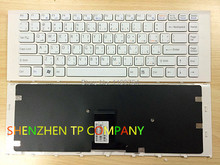 Brand New laptop keyboard For SONY VPC-EA VPC EA VPCEA White WITH Frame AR Arabic version(China)
