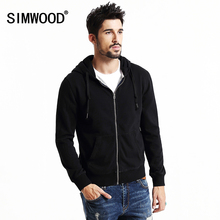 Simwood Fashion Male Designed Solid Color Solid Color Full Sleeve Hooded Fleece With Pocket Men Sweatshirt WY8023