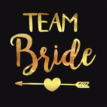 Buy Hot 10pc Team Bride Wedding Gold Temporary Body Tattoo Sticker DIY Christmas Party Decorative Tattoo Sticker Bachelorette Party for $2.90 in AliExpress store