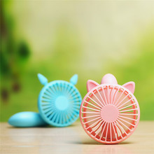 Summer Adorable cat squirrel Style Mini Handheld Fan Lithium Battery Rechargeable Portable USB Energy Conservation Cooling Fan